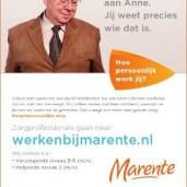 Personeelsadvertentie Marente